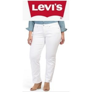 Levi's Classic Straight White Jeans